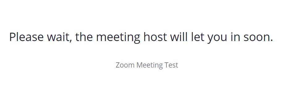 Zoom host